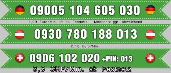 Dominatelefon Nummern