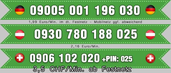 Telefonsex mit Latinas 0900er Festnez Nummern